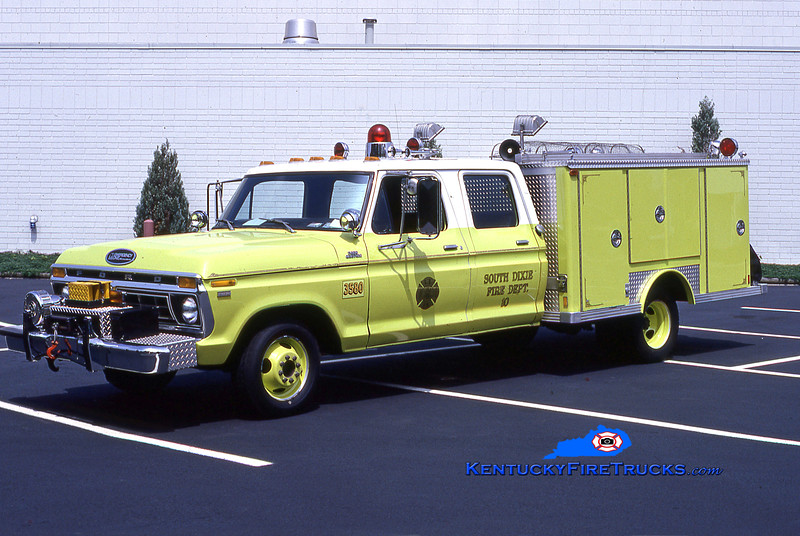 RETIRED<br /> South Dixie Rescue 3580<br /> 1977 Ford F-350/E-One<br /> Kent Parrish collection