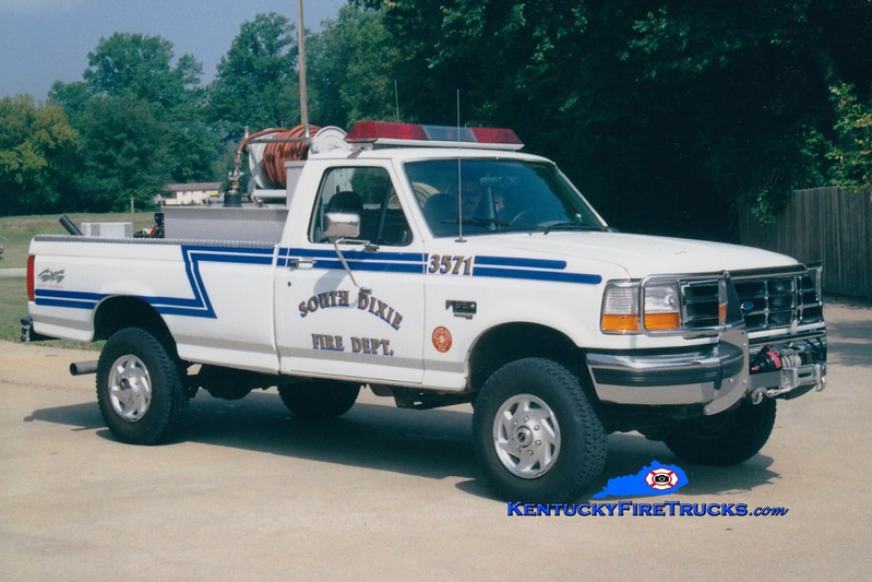 <center> IN SERVICE WITH PLEASURE RIDGE PARK <br> South Dixie  Brush 3571 <br> 1997 Ford F-350 4x4 250/250 <br> Greg Stapleton photo </center>