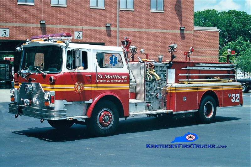 RETIRED <br /> St. Matthews Engine 2632 <br /> 1982 Mack CF 1500/500 <br /> Greg Stapleton photo