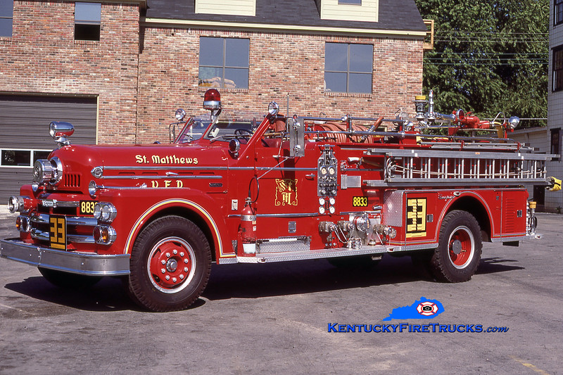PRIVATELY OWNED <br /> St. Matthews Engine 8833<br /> 1963 Seagrave Anniversary 1250/300<br /> Kent Parrish collection
