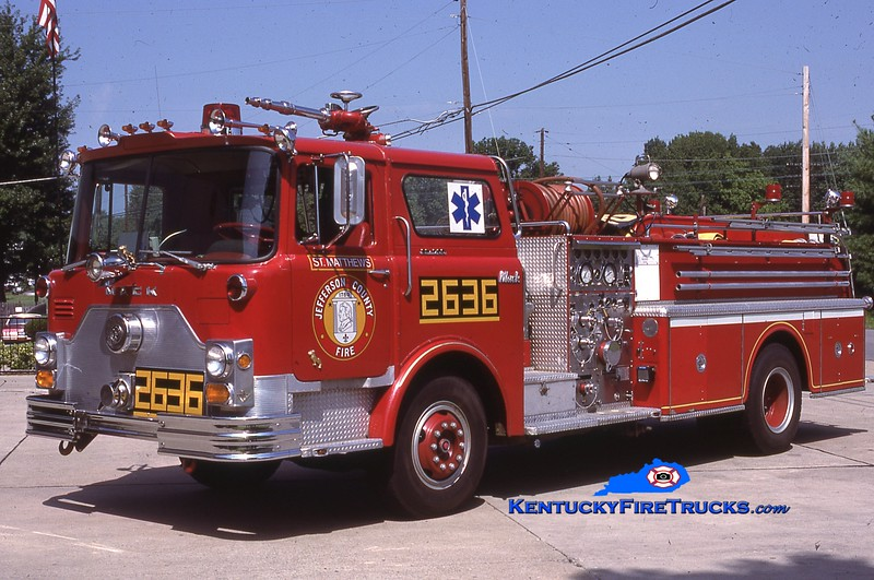 RETIRED <br /> St. Matthews Engine 2636 <br /> 1973 Mack CF 1500/500 <br /> Kent Parrish collection