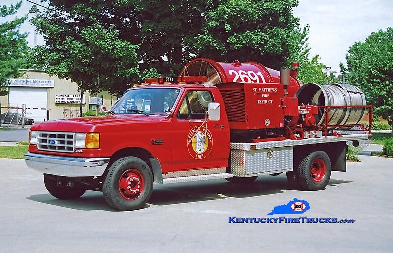 RETIRED<br /> St. Matthews Ventilation 2691<br /> 1988 Ford F-350 4x4/Aerovent<br /> Kent Parrish photo