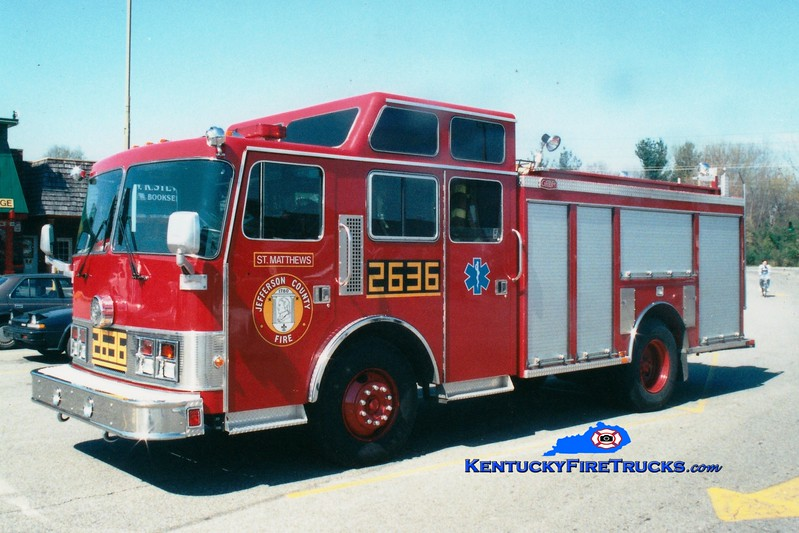 <center> RETIRED <BR> St. Matthews  Engine 2636 <br> 1989 Pemfab/Gator 1250/500 <br> Greg Stapleton photo </center>