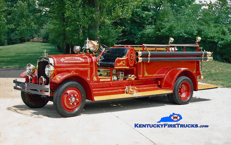 <center> ANTIQUE <br> St. Matthews  <br> 1931 Seagrave Suburbanite 500/400 <br> Kent Parrish photo </center>