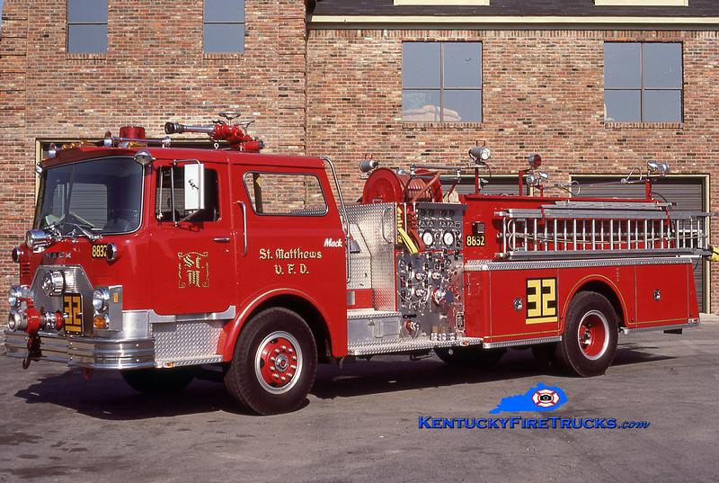 RETIRED <br /> St. Matthews Engine 8832 <br /> 1982 Mack CF 1500/500 <br /> Kent Parrish collection