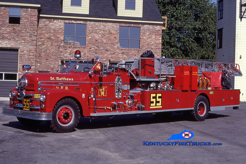 RETIRED<br /> St. Matthews Quint 8855<br /> 1957 Seagrave Anniversary 750/300/75' <br /> Kent Parrish collecction