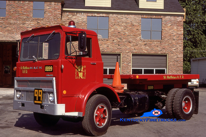 RETIRED<br /> St. Matthews Utility 8899<br /> 1979 Mack MB<br /> Kent Parrish collection