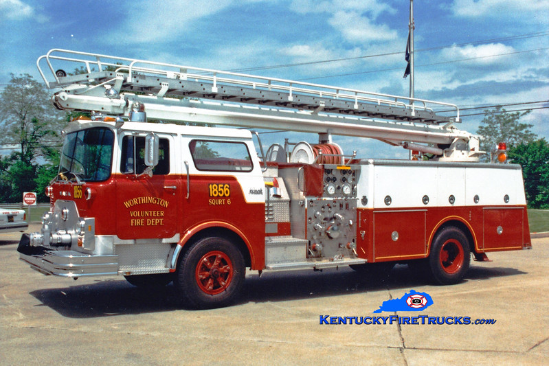<center> RETIRED <br> Worthington Squrt 1856  <br> 1978 Mack CF 1250/500/50' Telesqurt  <br> Greg Stapleton photo </center>