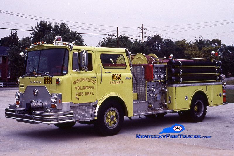 RETIRED<br /> Worthington Engine 1835<br /> 1976 Mack CF 1250/500<br /> Greg Stapleton photo