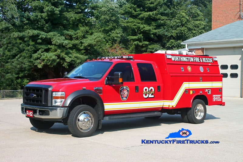 <center> RETIRED <br> Worthington  Rescue 1882 <br> 2007 Ford F-450 4x4/Reading-Manning <br> Kent Parrish photo </center>