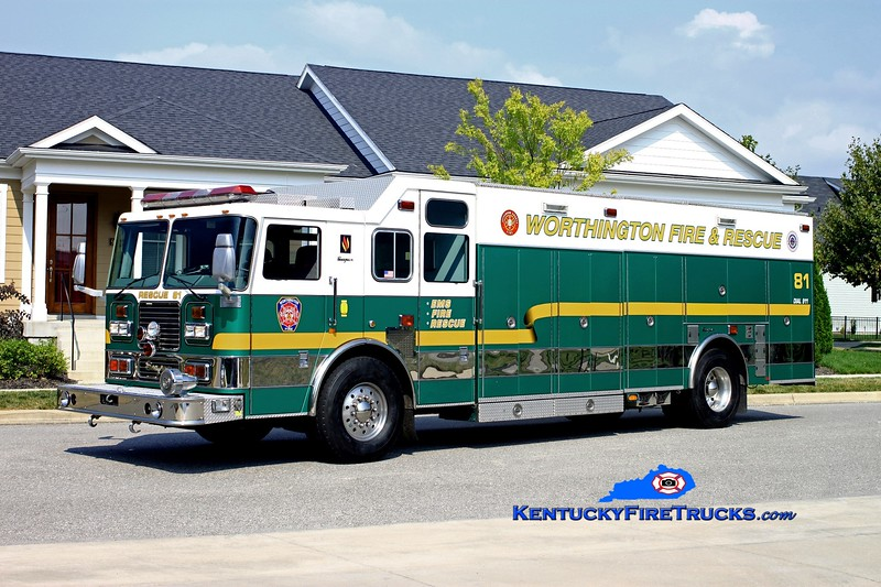 <center> NOW WITH ANCHORAGE MIDDLETOWN <br> Worthington  Rescue 1881 <br> x-Sycamore Twp, OH <br> 2001 Seagrave Marauder  Technical Rescue/Hazmat  <br> Kent Parrish photo </center>