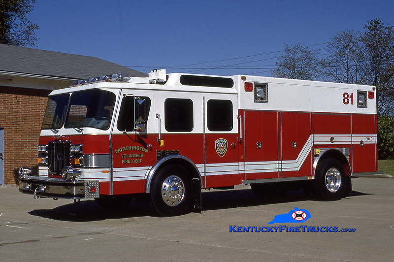 RETIRED<br /> Worthington Rescue 1881<br /> 1992 E-One Protector TC<br /> Kent Parrish collection