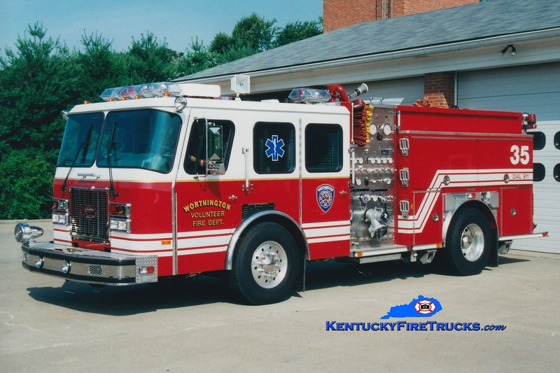 RETIRED<br /> Worthington Engine 1835<br /> 1995 E-One Cyclone TC 1250/720/30<br /> Greg Stapleton photo