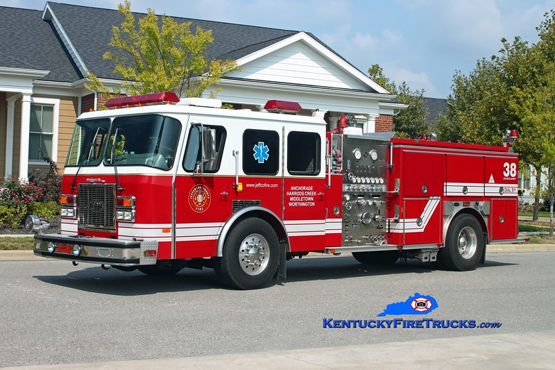 <center> Worthington Engine 1838 <br> x-Engine 1832 <br> Jefferson County Joint East End Reserve Engine <br> 1993 E-One Cyclone CT 1250/500 <br> Kent Parrish photo </center>