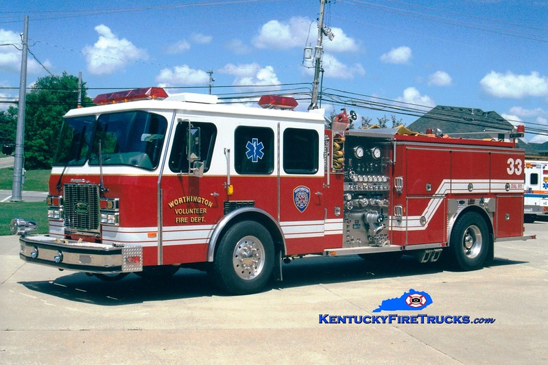 <center> RETIRED <br> Worthington Engine 1833 <br> 1993 E-One Cyclone TC 1250/500 <br> Greg Stapleton photo </center>