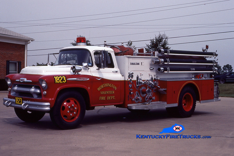 PRIVATELY OWNED<br /> Worthington Engine 1823 <br /> 1957 Chevy/American LaFrance 750/500<br /> Kent Parrish collection