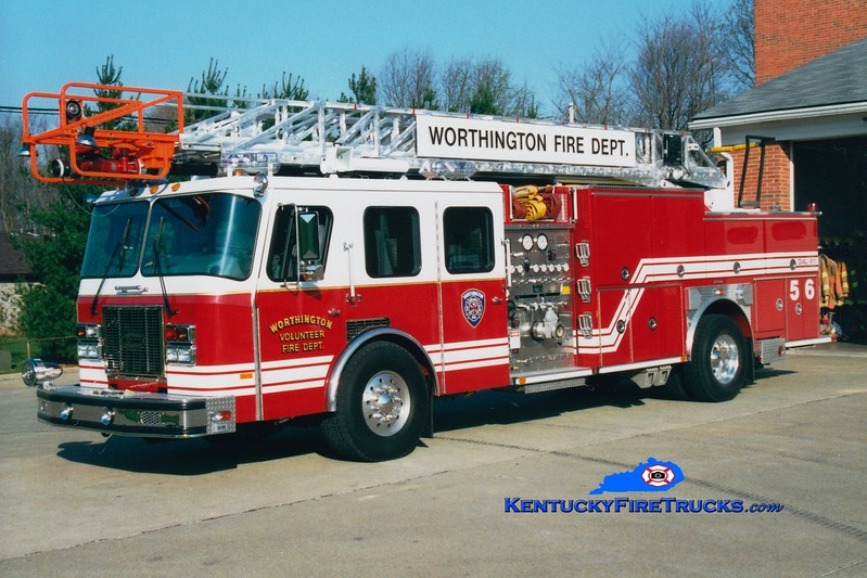 <center> RETIRED <BR> Worthington  Quint 1856  <br> 1995 E-One Cyclone TC 1250/470/30/75' <br> Greg Stapleton photo </center>
