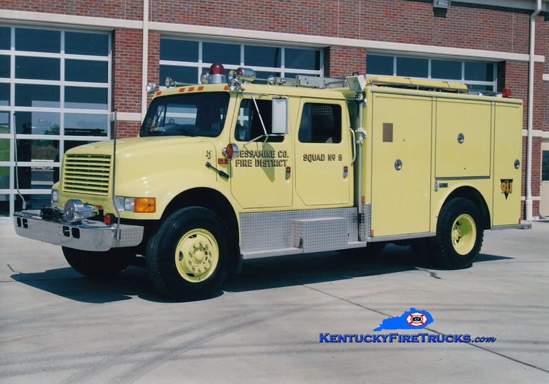 <center> Jessamine County  Squad 9 <br> 1990 International 4900/Marion <br> Greg Stapleton photo <br> </center>