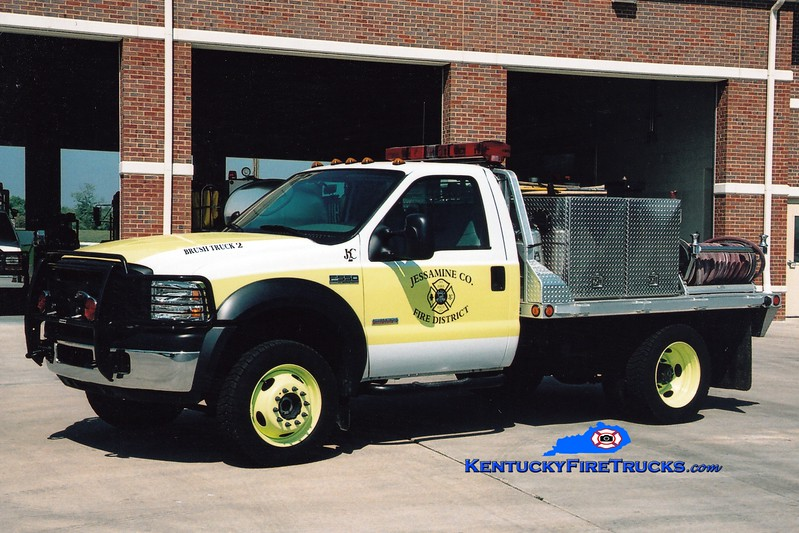 <center> Jessamine County  Brush 2 <br> 2005 Ford F-350 4x4/JCFD 250/250 <br> Greg Stapleton photo <br> </center>