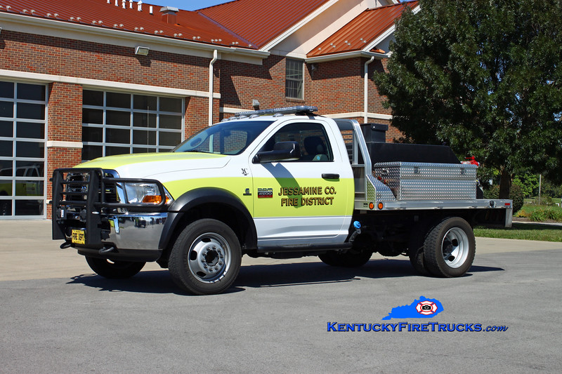 <center> Jessamine County  Brush 1 <br> 2011 Dodge 4500 4x4/JCFD 250/250 <br> Kent Parrish photo <br> </center>