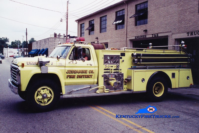 <center> RETIRED <br> Jessamine County  Engine 7 <br> 1973 Ford F/Sutphen 1000/750 <br> Greg Stapleton photo <br> </center>