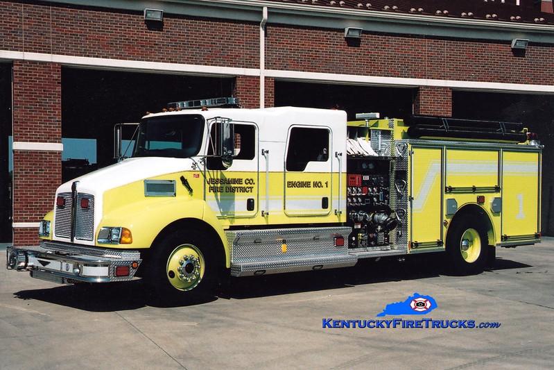 <center> Jessamine County  Engine 1 <br> 2007 Kenworth T-300/Pierce 1250/1000/30 <br> Greg Stapleton photo <br> </center>