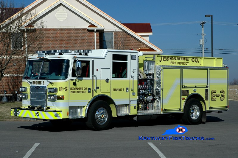 <center> Jessamine County  Engine 3 <br> 2013 Pierce Arrow XT 1500/1000/30 <br> Greg Stapleton <br> </center>