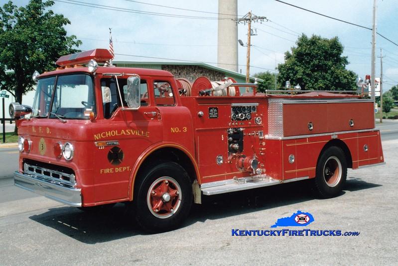 <center> RETIRED <br> Nicholasville  Engine 3 <br> 1972 Ford C/Pirsch 1000/500 <br> Greg Stapleton photo <br> </center>