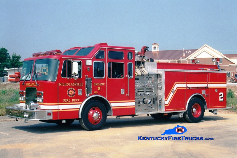 <center> REASSIGNED AS SQUAD 6 <br> Nicholasville  Engine 2 <br> 1997 KME Excel 1500/750 <br> Greg Stapleton photo <br> </center>