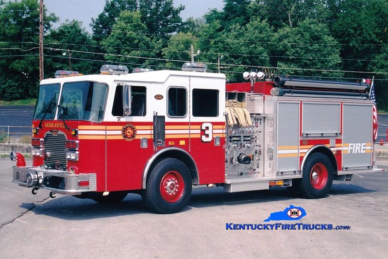 <center> Nicholasville  Engine 3 <br> 2002 KME Excel 1500/1000 <br> Greg Stapleton photo <br> </center>