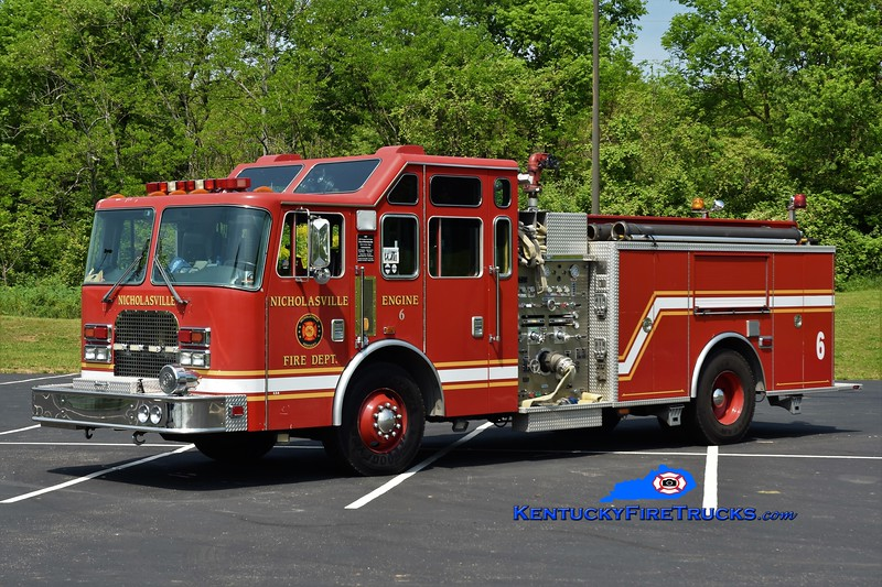Nicholasville  Squad 6<br /> x-Engine 2, 4, and 6 <br /> 1997 KME Excel 1500/750<br /> Greg Stapleton photo