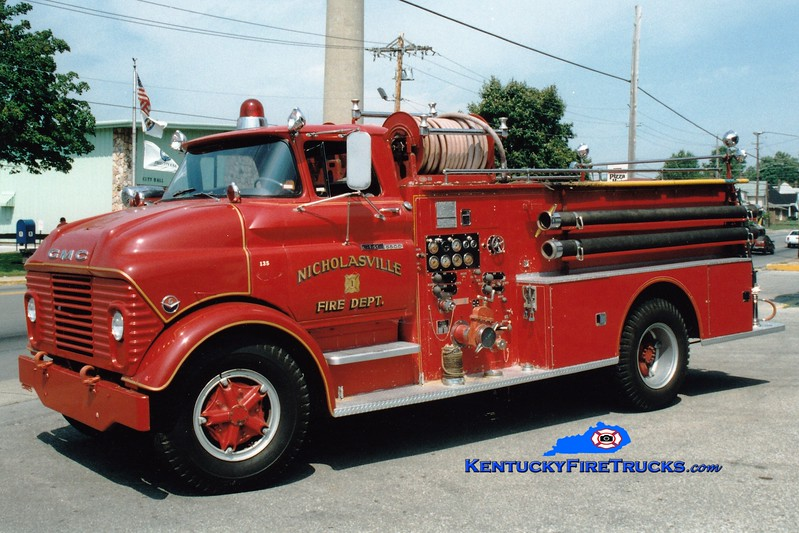 <center> RETIRED <br> Nicholasville  Engine 1 <br> 1962 GMC/Boyer 750/500 <br> Greg Stapleton photo <br> </center>