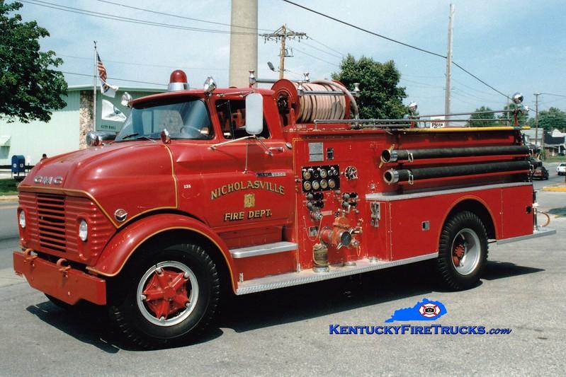 <center> RETIRED <br> Nicholasville  Engine 1 <br> 1962 GMC/Boyer 750/500 <br> Greg Stapleton photo <br> </center>