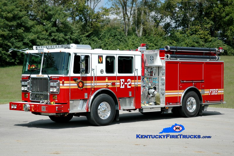 <center> Nicholasville  Engine 2 <br> 2014 Seagrave Marauder II 1500/750 <br> Greg Stapleton photo <br> </center>