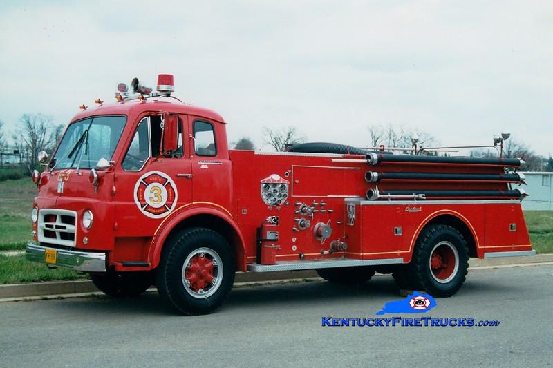 <center> RETIRED <br> North Jessamine County Engine 3 <br> 1964 International VCO/1966 Central 750/600  <br> Greg Stapleton photo <br> </center>