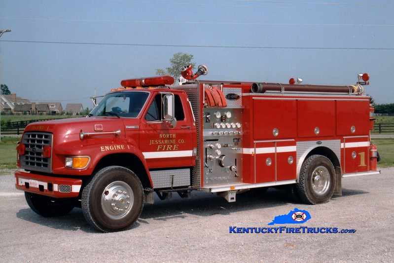 <center> *Currently with Jessamine County FD <br> North Jessamine County Engine 1 <br> 1995 Ford F/E-One 1250/1000 <br> Greg Stapleton photo <br> </center>