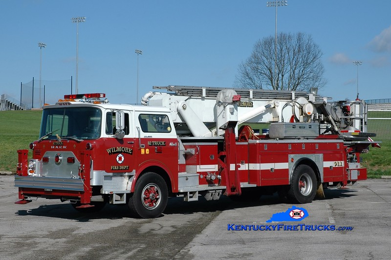 Wilmore  Truck 82<br /> x-West Stafford and Enfield, CT <br /> 1978 Mack CF/Baker 75' Aerialscope<br /> Greg Stapleton