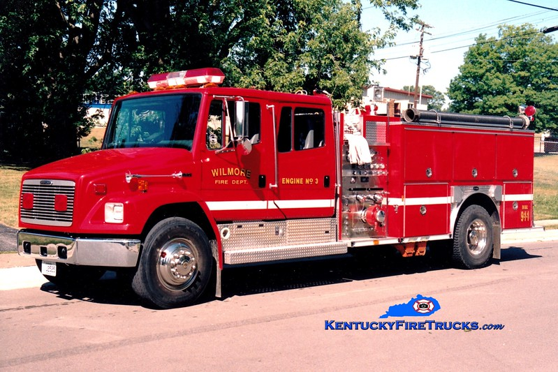 <center> Wilmore  Engine 83 <br> x-Engine 3 <br> 1996 Freightliner FL80/E-One 1250/1000 <br> Greg Stapleton photo </center>