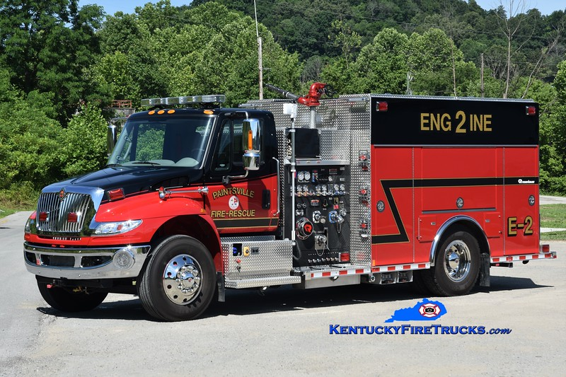 Paintsville  Engine 2<br /> 2018 International 4400/Rosenbauer 1500/750<br /> Greg Stapleton photo