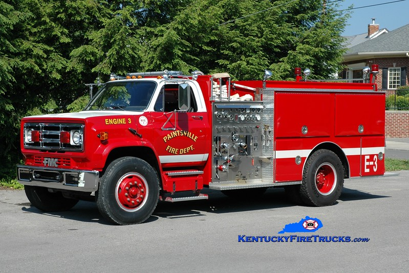 <center> Paintsville  Engine 3  <br> 1988 GMC/FMC 1250/750 <br> Greg Stapleton photo </center>