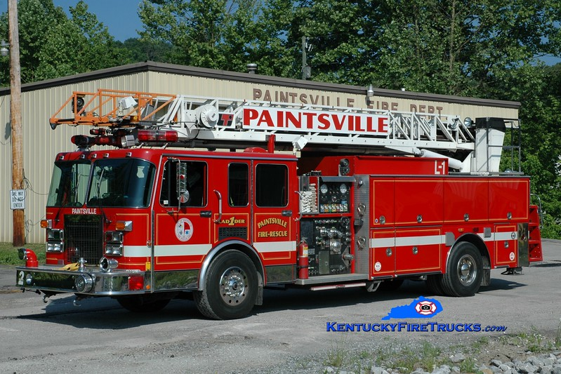 <center> Paintsville  Ladder 1  <br> x-Downers Grove, IL <br> 1992 Spartan/LTI  1500/400/75'<br> Greg Stapleton photo </center>