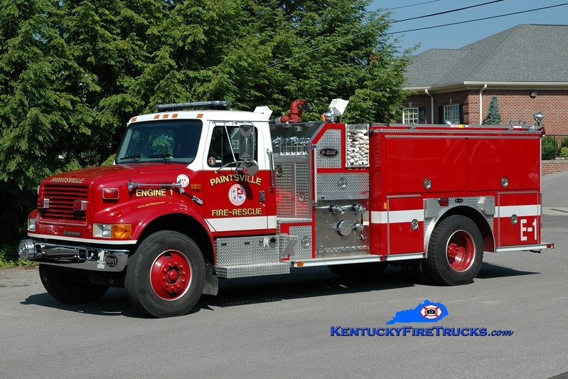 <center> Paintsville  Engine 1  <br> 1998 International 4900/E-One 1250/1000 <br> Greg Stapleton photo </center>