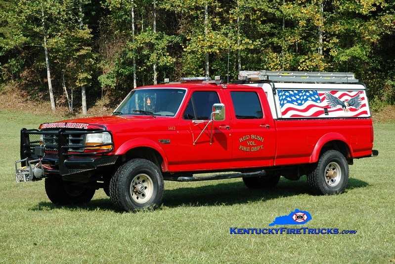 <center> Red Bush  Rescue 1412  <br> 1995 Ford F-350 4x4  <br> Greg Stapleton photo </center>