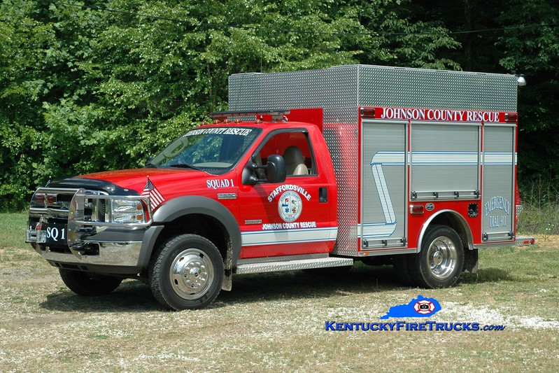 <center> Staffordsville/Johnson County  Squad 1  <br> 2005 Ford F-550 4x4/Wynn 250/250/CAFS <br> Greg Stapleton photo </center>