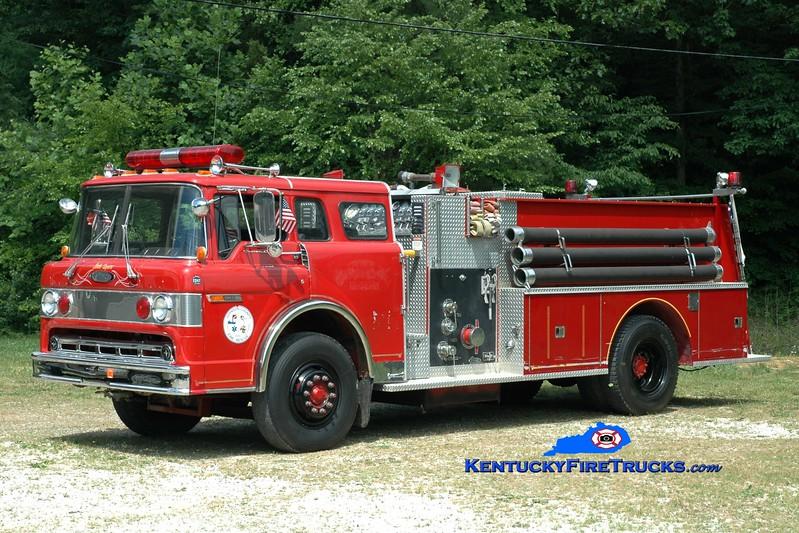 <center> Staffordsville/Johnson County  Engine 2  <br> x-Oil Springs, KY <br> 1978 Ford C-900/Pierce 1000/1000 <br> Greg Stapleton photo </center>