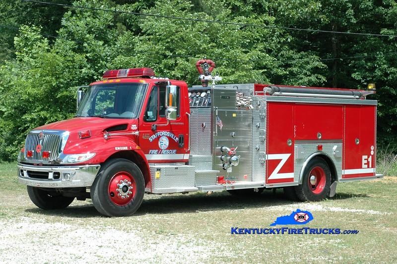 <center> Staffordsville/Johnson County  Engine 1  <br> 2004 International 4400/Crimson 1250/1200 <br> Greg Stapleton photo </center>