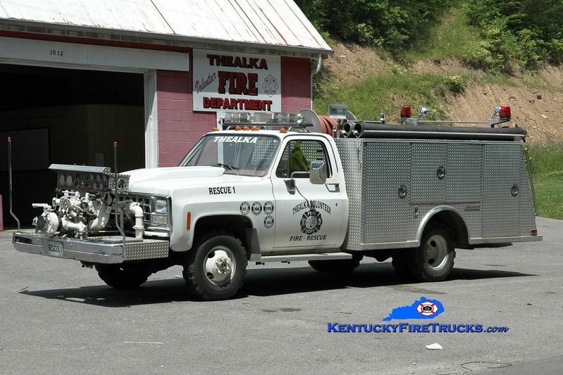 <center> Thealka  Rescue 1010  <br> x-New Middletown, KY <br> 1980 Chevy/Saulsbury 750/250 <br> Greg Stapleton photo </center>