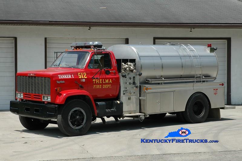 <center> Thelma  Tanker 512  <br> 1988 GMC TopKick/Bluegrass 350/2000 <br> Greg Stapleton photo </center>