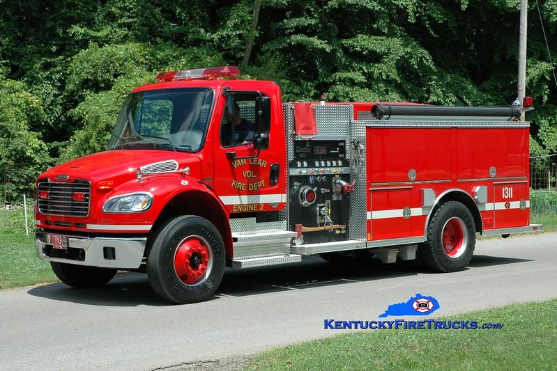 <center> Van Lear  Engine 1311  <br> 2007 Freightliner M2-106/Rosenbauer-Central 1250/1000 <br> Greg Stapleton photo </center>