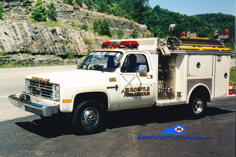 <center> RETIRED <br> W.R. Castle  Squad 312  <br> 1987 Chevy/Allegheny 250/250 <br> Greg Stapleton photo </center>